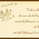 : funny wedding reception invitations
