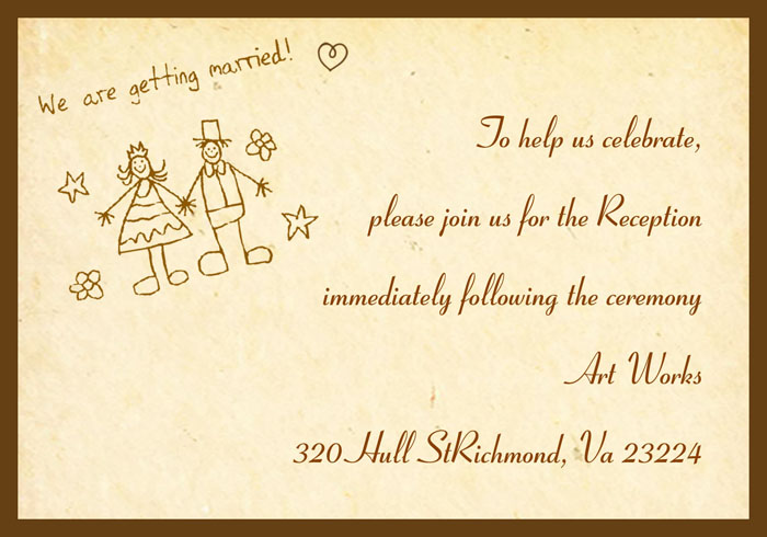 funny wedding reception invitations