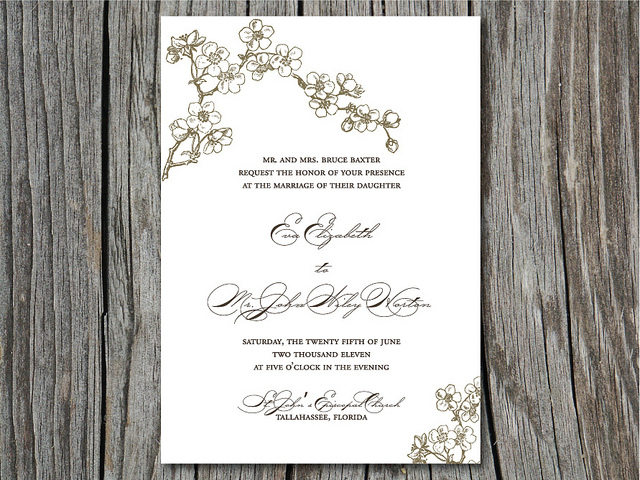 Wedding Invitations March 12, 2015 admin 9 images