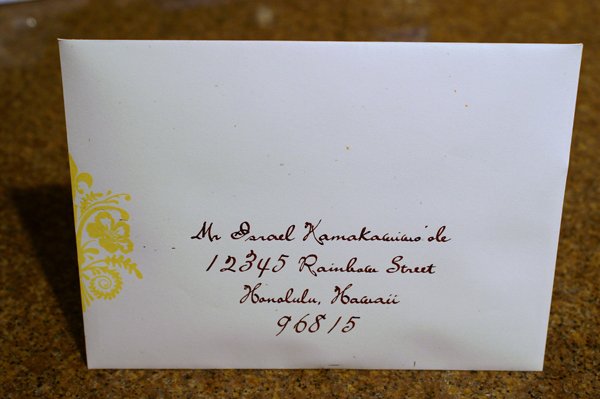 addressing wedding invitation envelopes