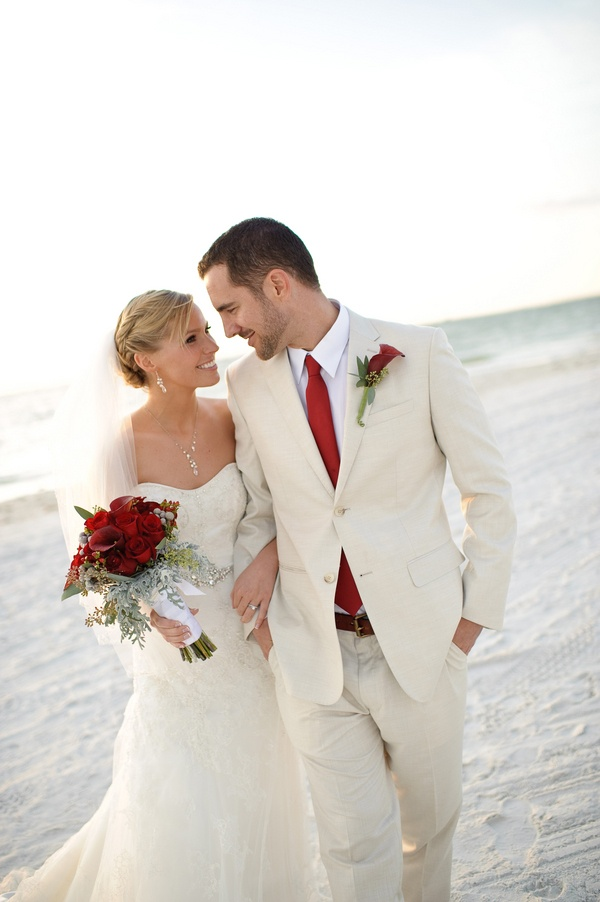 : beach wedding attire for groom