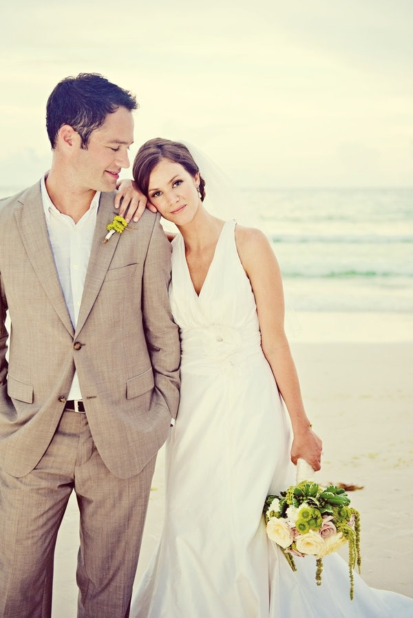 : beach wedding groom attire