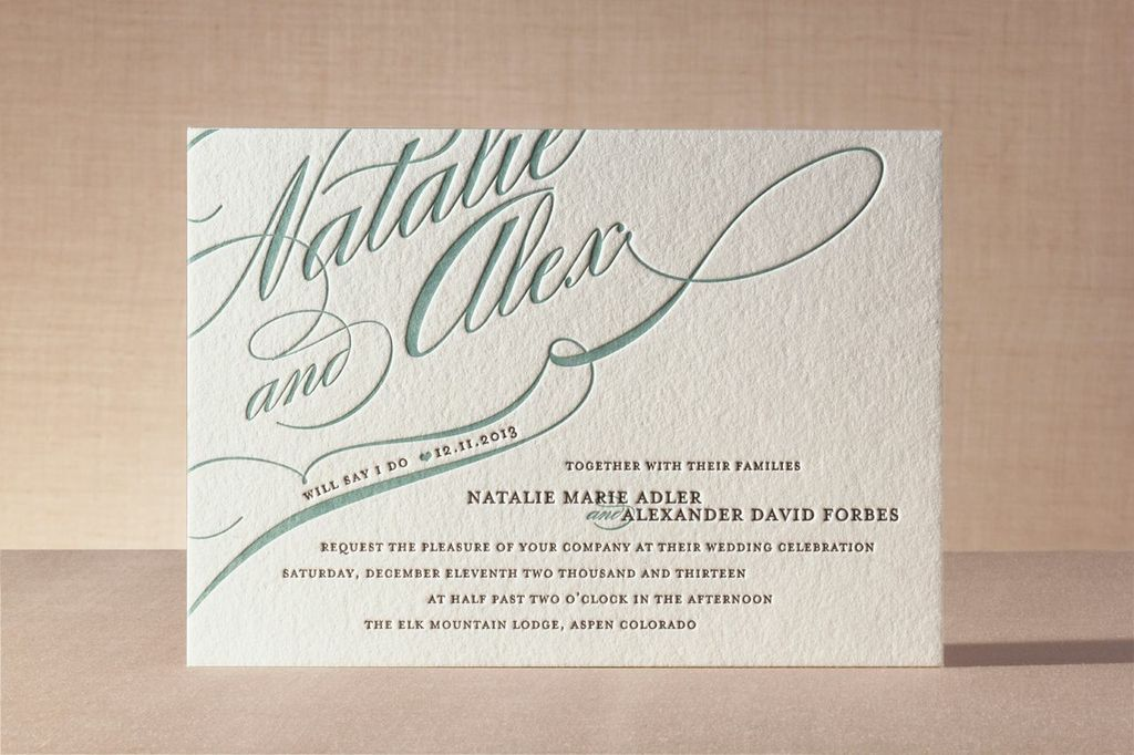 best letterpress wedding invitations