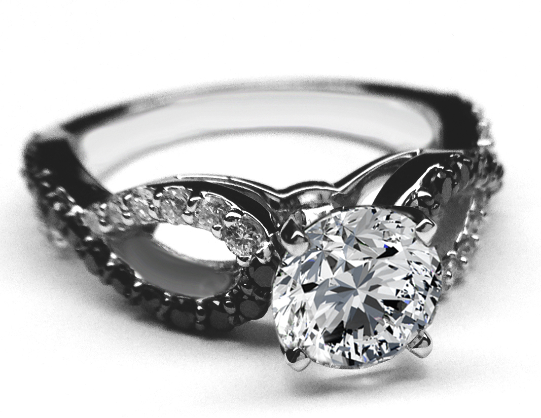 : black diamond wedding ring sets