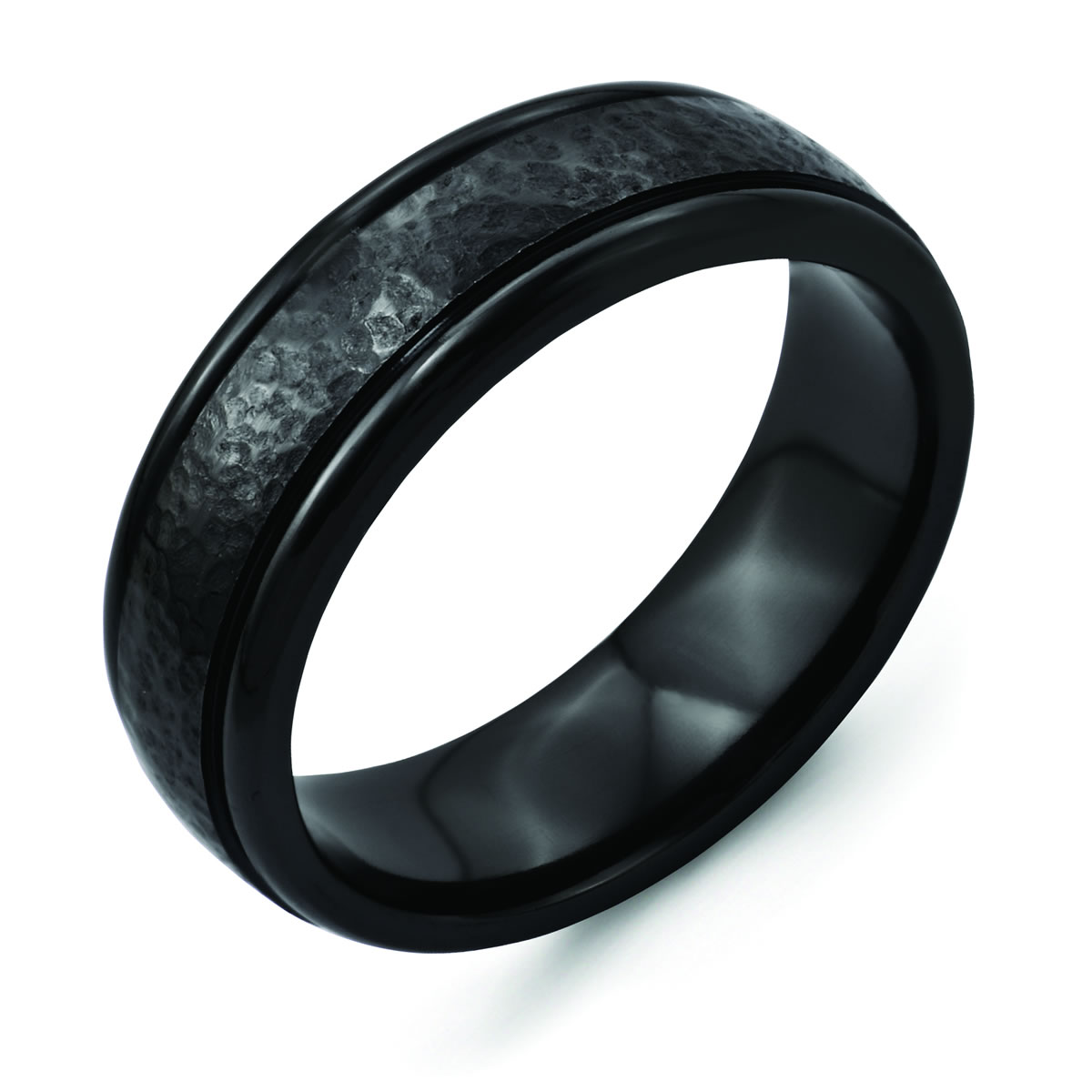 black titanium mens wedding bands