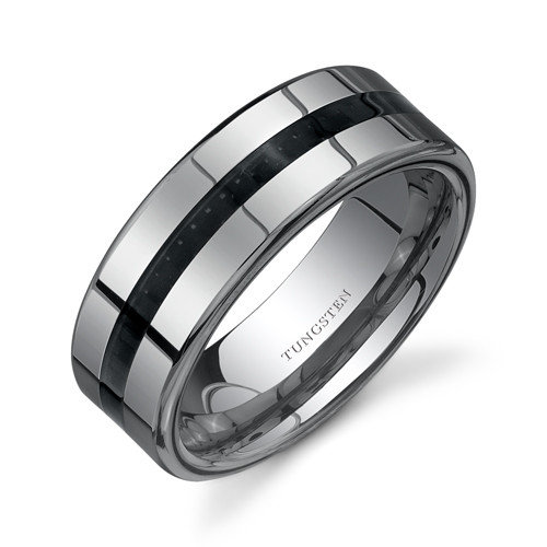 : black tungsten wedding bands