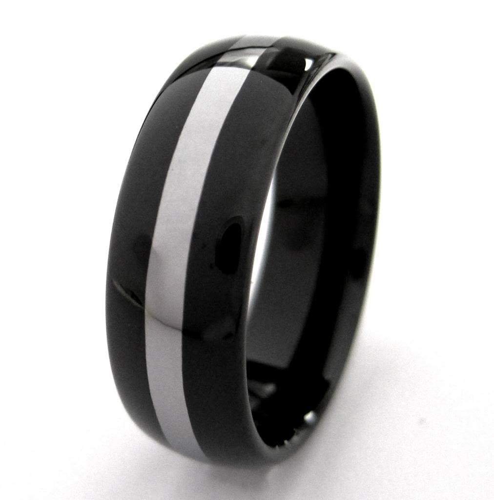 : black tungsten wedding rings