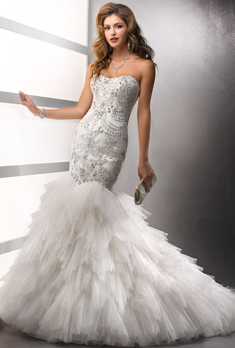 : bling mermaid wedding dresses
