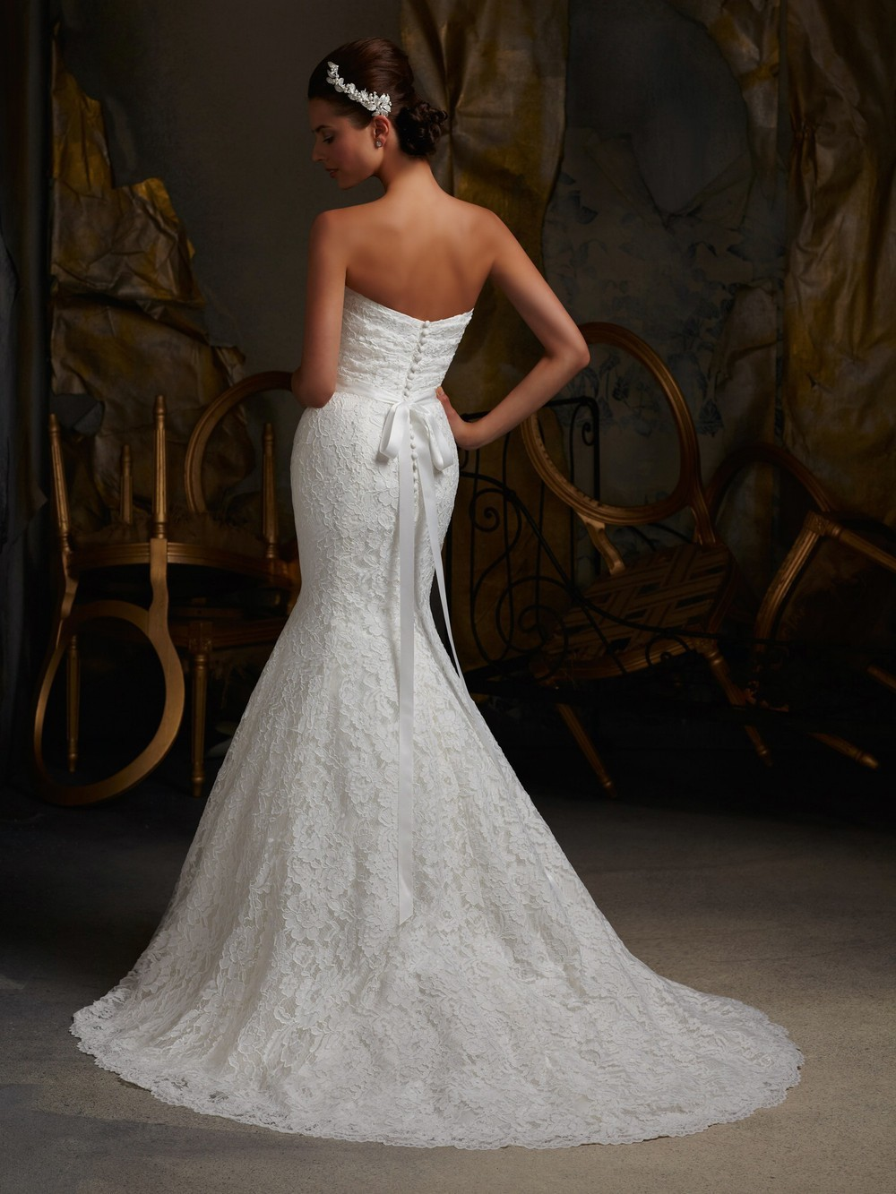 : bling wedding dress
