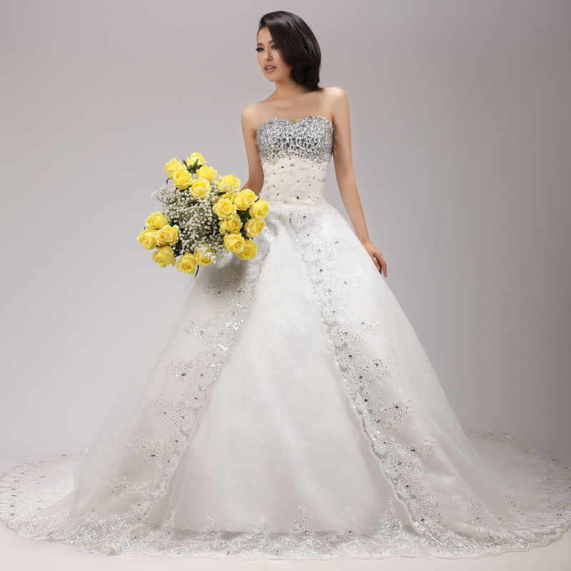: bling wedding dresses 2013