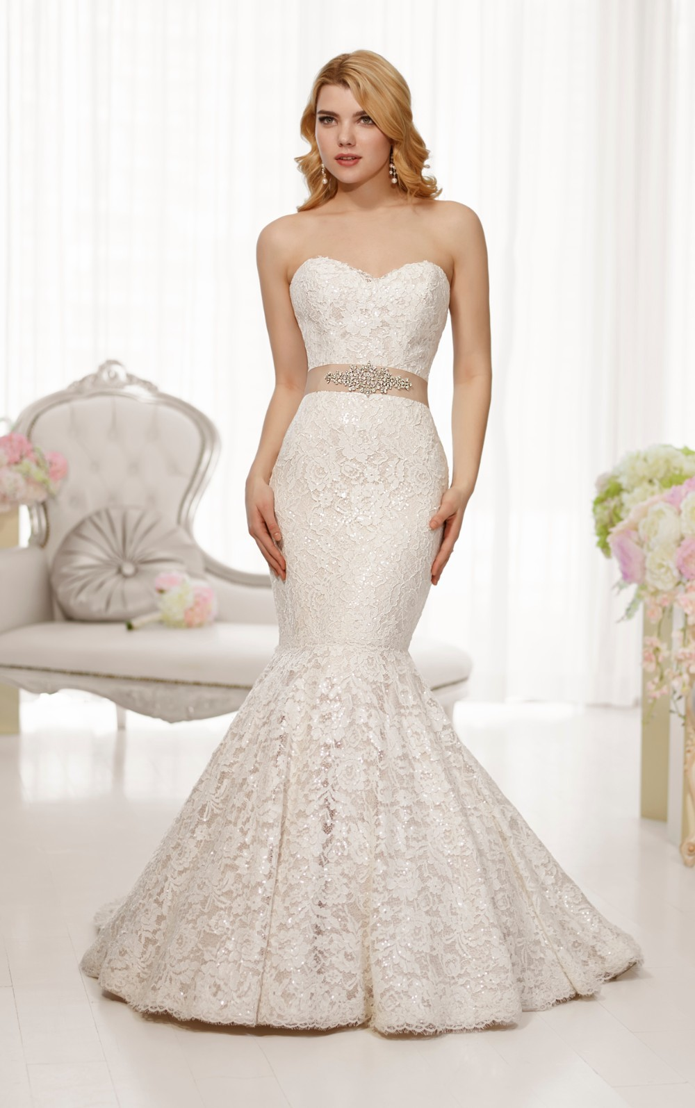 : bling wedding dresses 2014