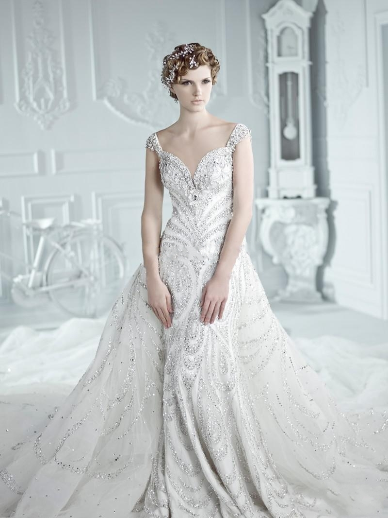 : bling wedding gowns