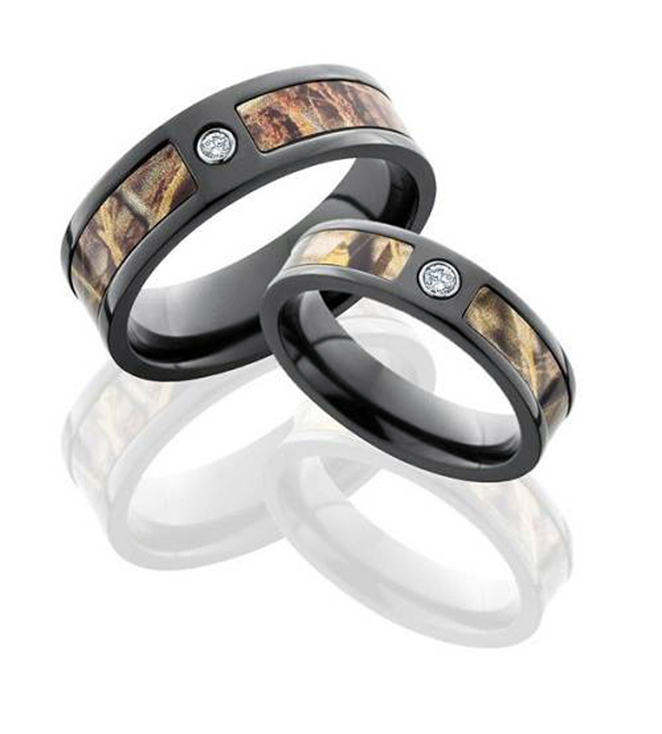: camo mens wedding band