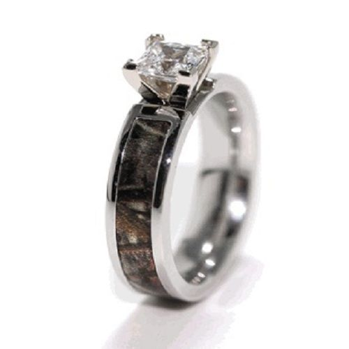 : camo wedding ring set