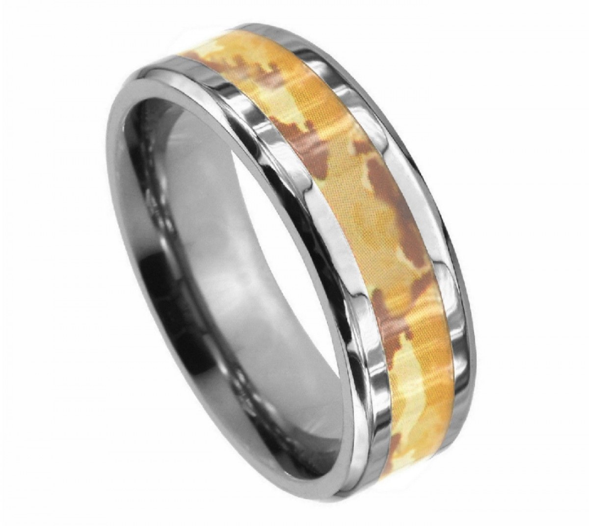 : camo wedding rings for men