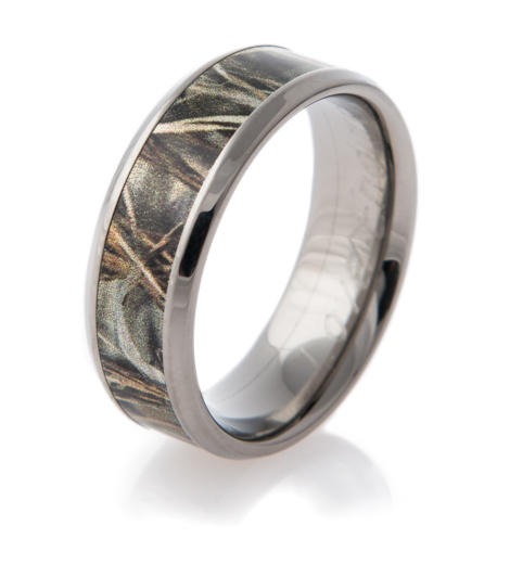 : camouflage wedding rings