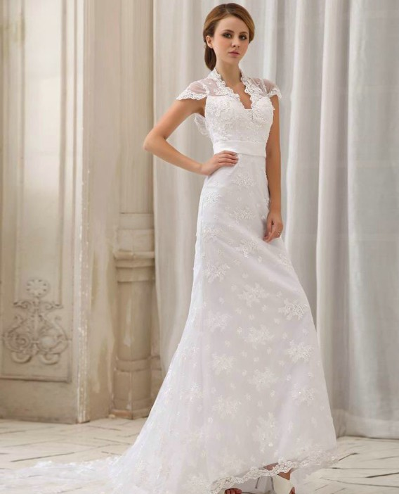 : cap sleeve wedding dresses