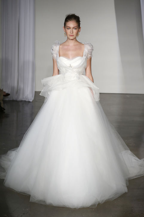 : capped sleeve wedding dresses