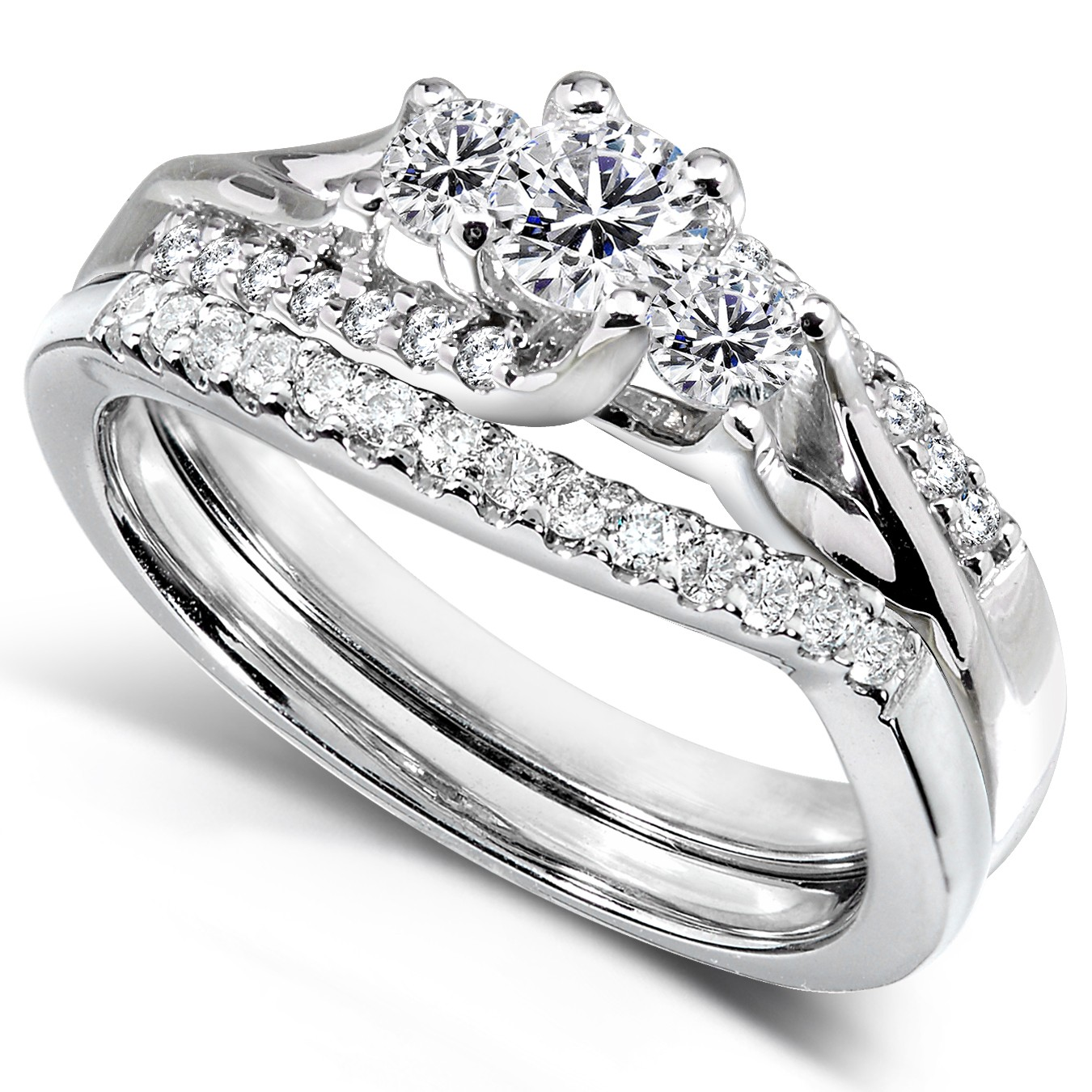 cheap diamond wedding ring sets