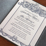 : custom letterpress wedding invitations