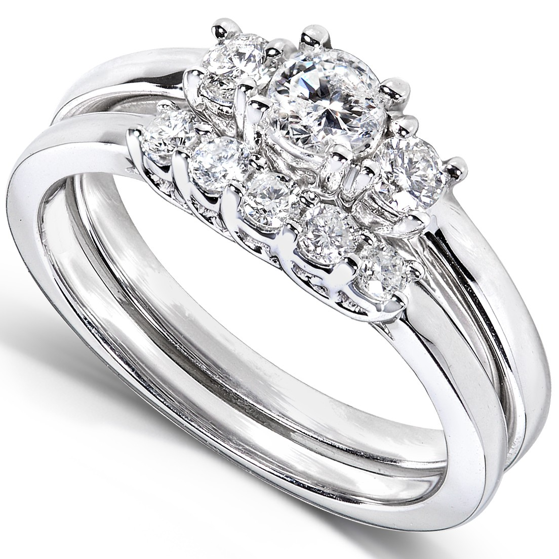 : diamond set wedding rings