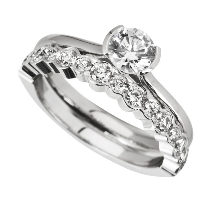 : diamond wedding ring sets