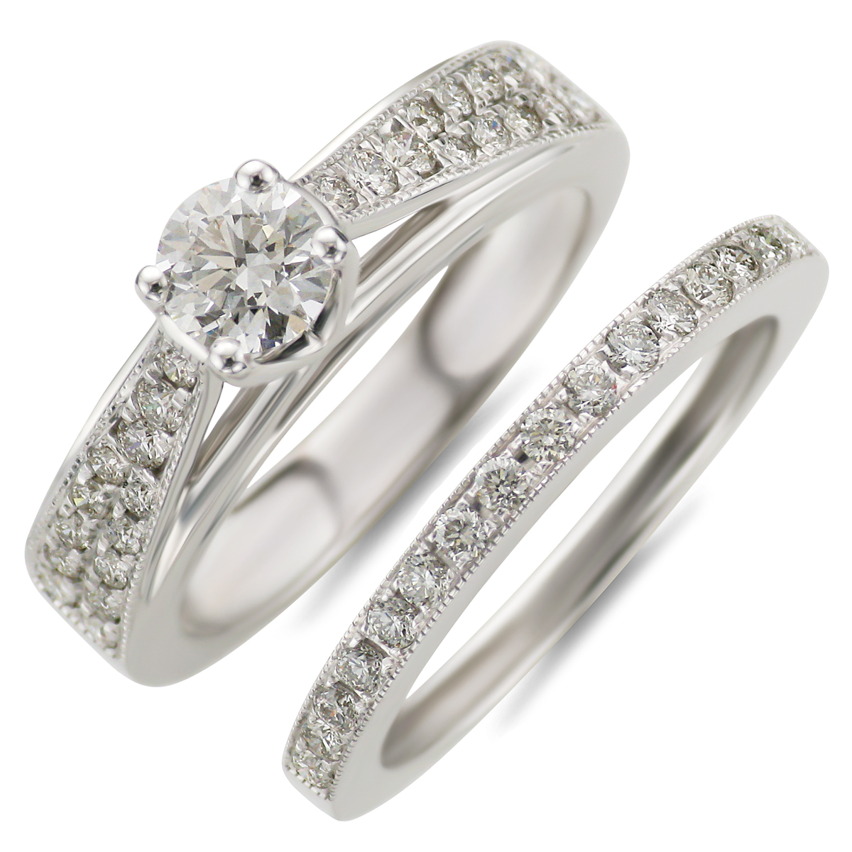 : diamond wedding rings sets