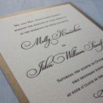 : elegant letterpress wedding invitations