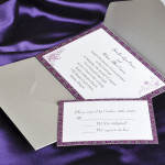 : elegant pocket wedding invitations