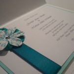 : elegant wedding invitations with crystals