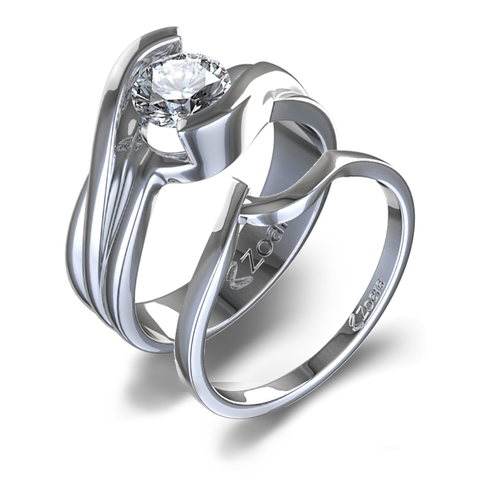 : engagement and wedding ring set