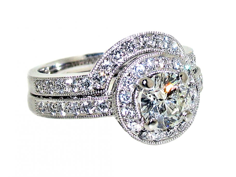 : engagement and wedding ring sets