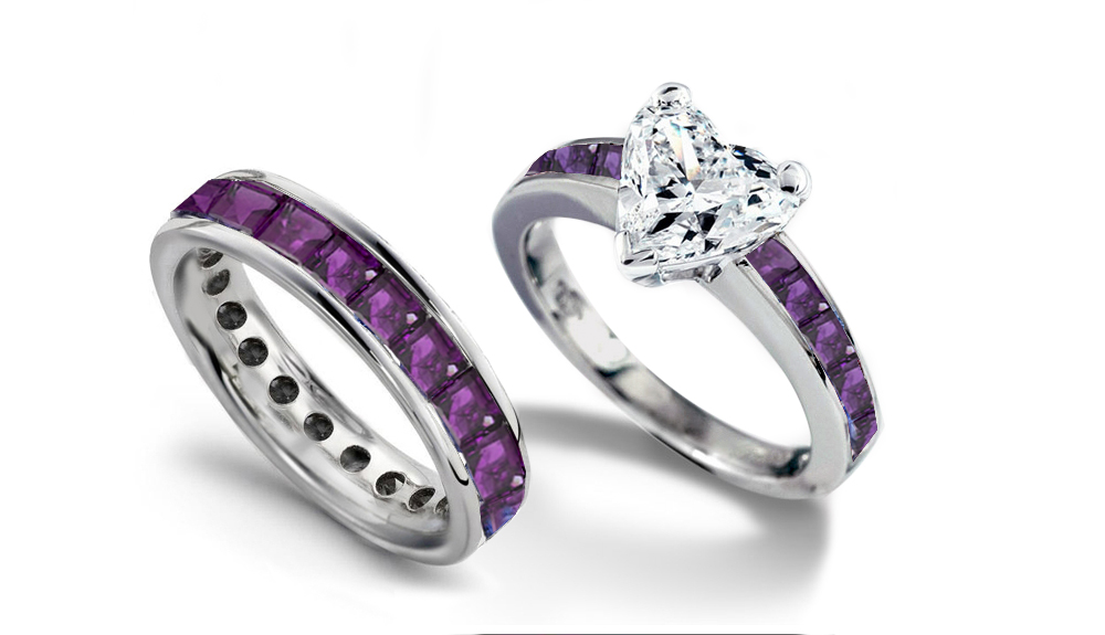 : engagement and wedding rings set