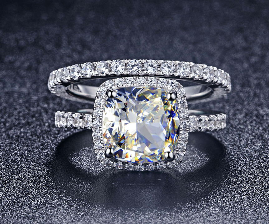 : engagement and wedding rings