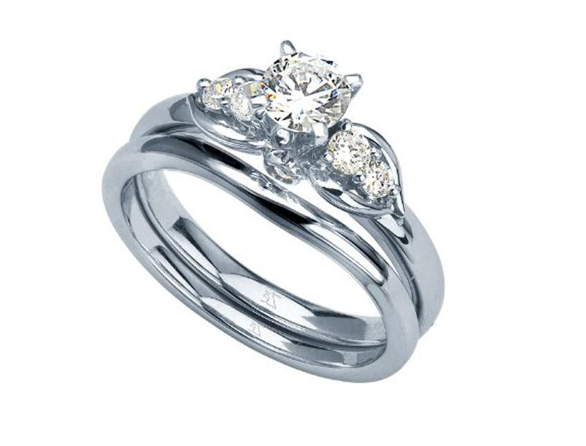: engagement ring and wedding ring