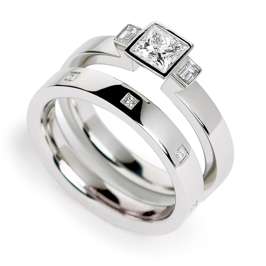 : engagement wedding rings sets