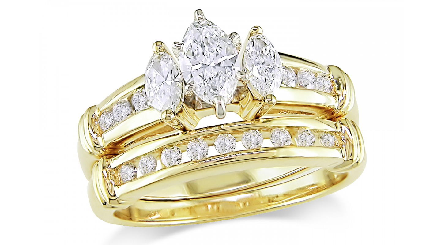 : gold diamond wedding rings