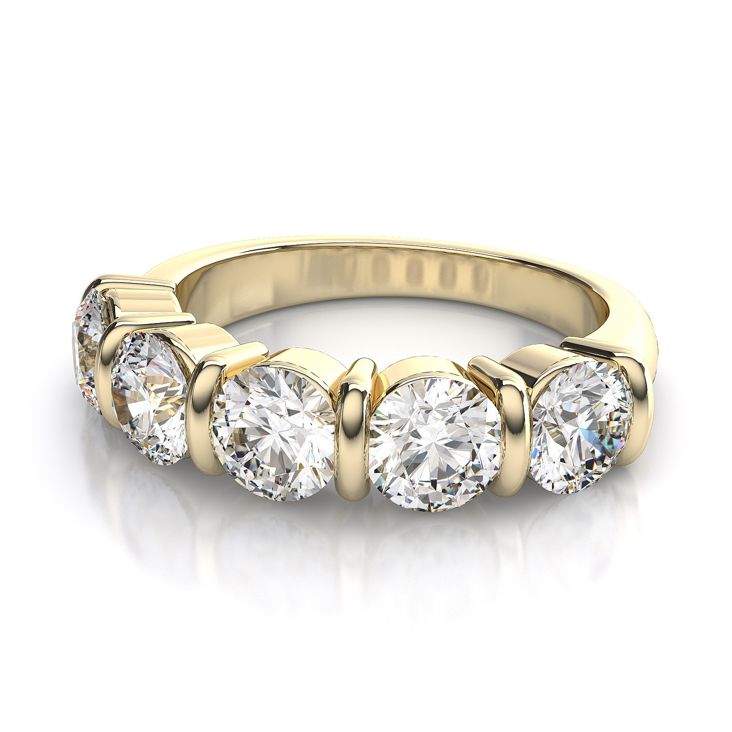 : gold wedding ring sets