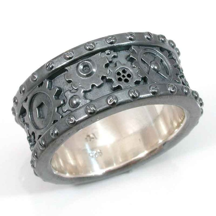 : gothic wedding rings sets