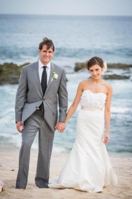 : grooms beach wedding attire