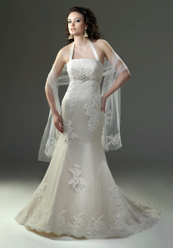 hairstyles for halter top wedding dresses