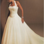 : halter top wedding dresses