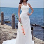 : halter top wedding dresses 2013