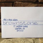 : handwritten wedding invitation envelopes