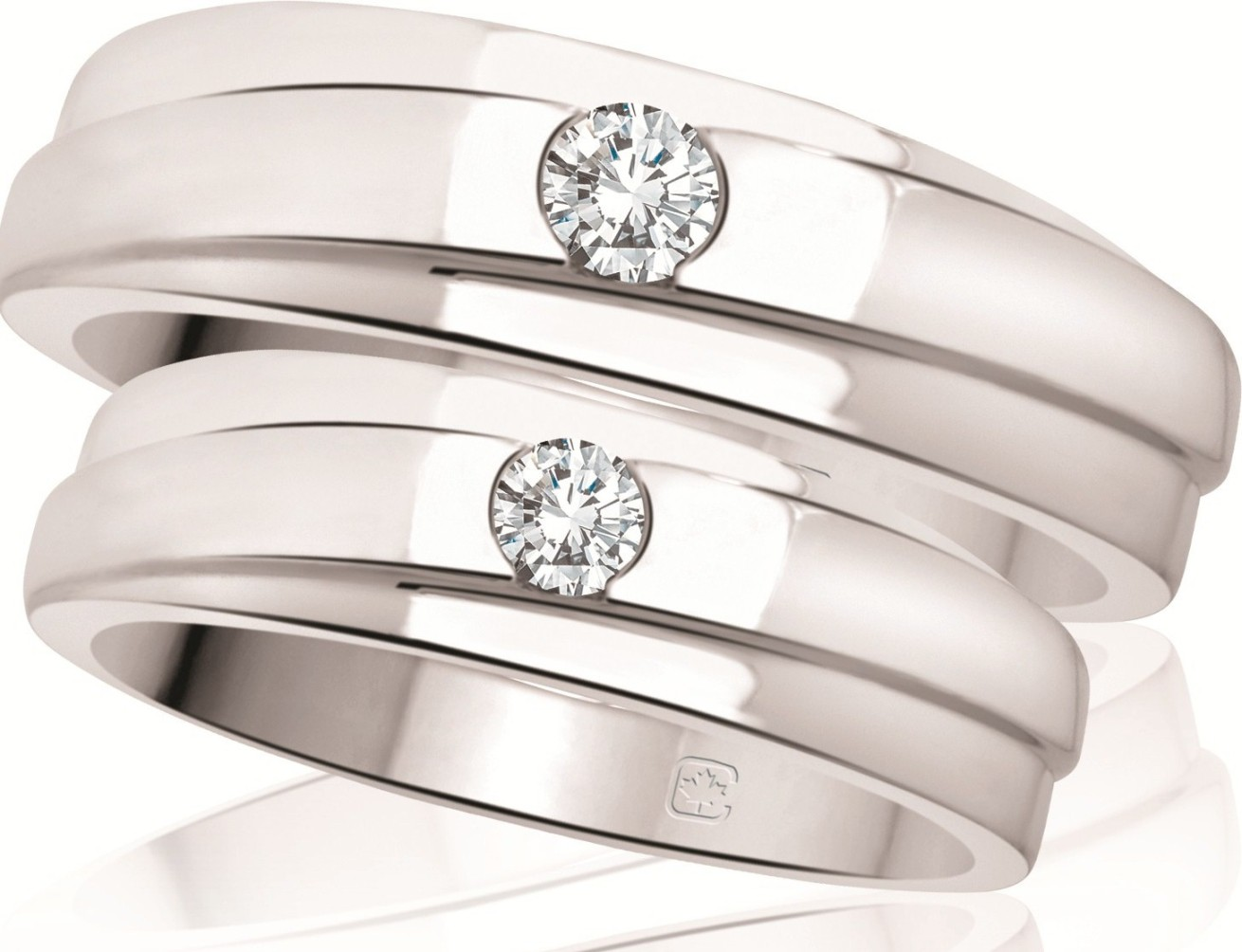 : his and hers matching wedding rings