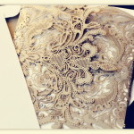 : lace laser cut wedding invitations