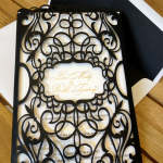 : laser cut lace wedding invitations