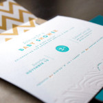 : letterpress baby shower invitations