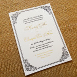 : letterpress wedding invitations affordable