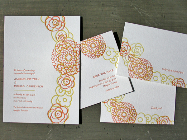 letterpress wedding invitations cheap